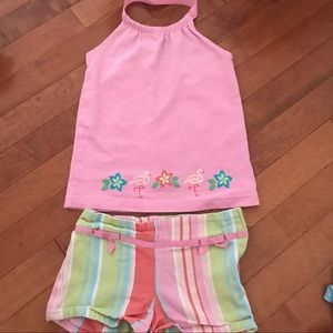 Gymboree 2-piece halter top and shorts